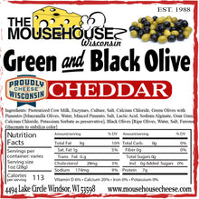 Load image into Gallery viewer, Green & Black Olive Cheddar
