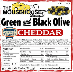 Green & Black Olive Cheddar
