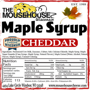 Maple Syrup Cheddar