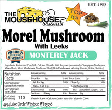 Load image into Gallery viewer, Morel Mushroom with Leeks Monterey Jack