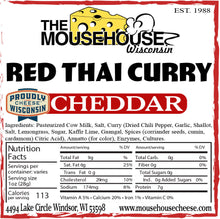 Load image into Gallery viewer, Red Thai Curry Cheddar