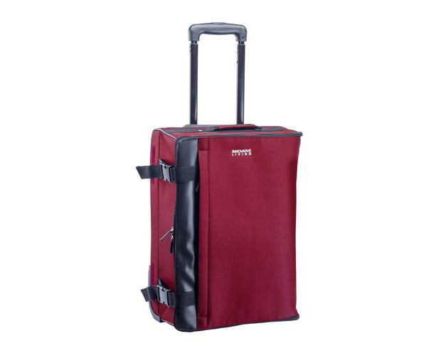 Wheeled Foldable Collapsible Trolley Handy Carry On Luggage Bag Burgundy Sold By ArticaUSA