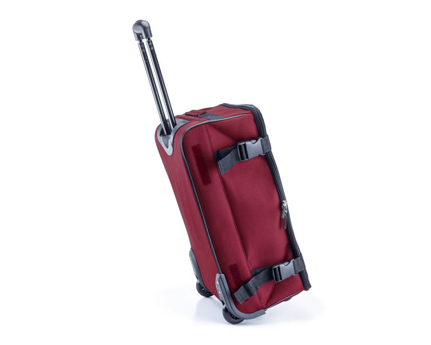 Wheeled Foldable Collapsible Trolley Handy Carry On Luggage Bag Burgundy Sold By A