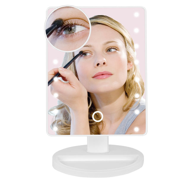 NEW 16 LED Makeup Mirror white Touch Screen Dimming Cosmetic 180 Degree Rotation Sold By Artica
