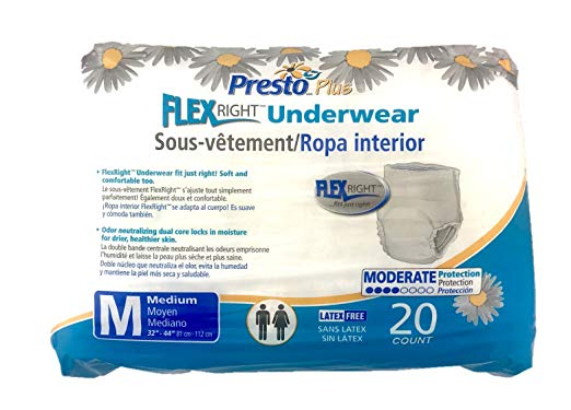 Protective Underwear Medium 32 - 44 Good Absorbency sold by Artica USA