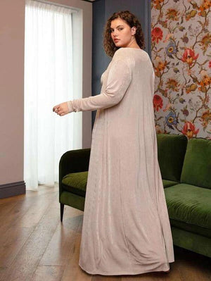 Curvaceous 3pc. Pajama & Robe Lounge Set SHN -michelle canbuldu