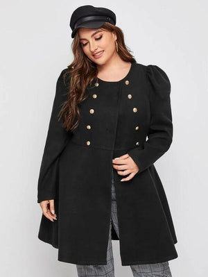 Double Breasted Flare Hem Coat SHN -michelle canbuldu