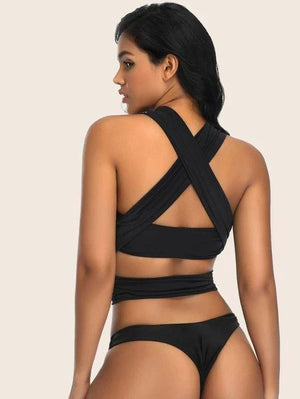 Double O Ring Wrap Tie Swimsuit Revenge Fashion Boutique