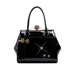 Euro Moda Luxe Leather Handbag Women - Bags - Shoulder Bags Brangio Black