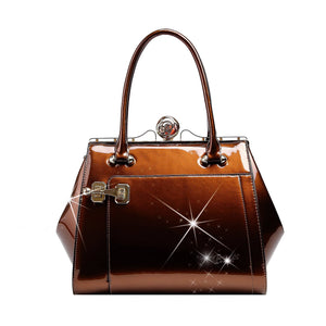 Euro Moda Luxe Leather Handbag Women - Bags - Shoulder Bags Brangio Bronze