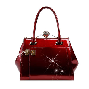 Euro Moda Luxe Leather Handbag Women - Bags - Shoulder Bags Brangio Burgundy