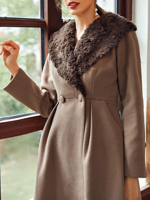 Flare Hem Waterfall Coat SHN -michelle canbuldu