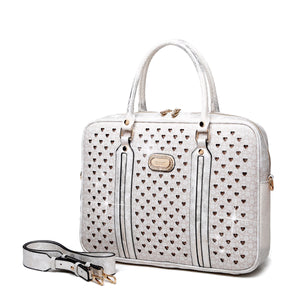 Galaxy Crystal Laptop Bag Women - Bags - Briefcases Brangio Cloudy White
