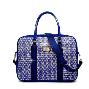 Galaxy Crystal Laptop Bag Women - Bags - Briefcases Brangio Royal Blue