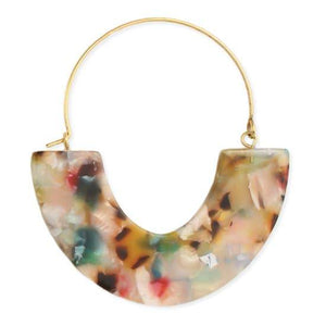 Marbled Resin Hoop Earrings Faire-ZAD