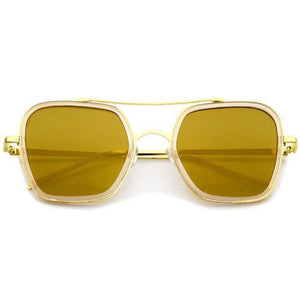 Modern Square MIrrored Flat Lense Sunglasses Revenge Fashion Boutique