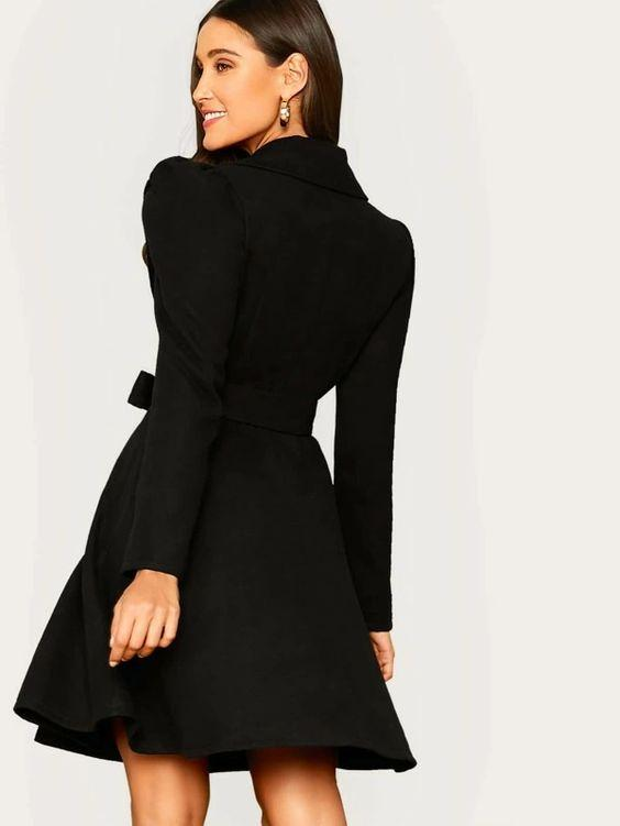 Notched Collar Belted Coat SHN -michelle canbuldu