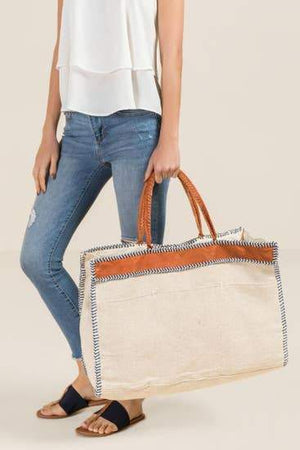Oversized Square Luxe Tote Faire-Shiraleah
