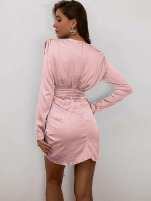 Plunging Stretch Bodycon Dress SHN