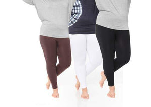 Plus Stretch 3pc Legging Set Faire-White Mark