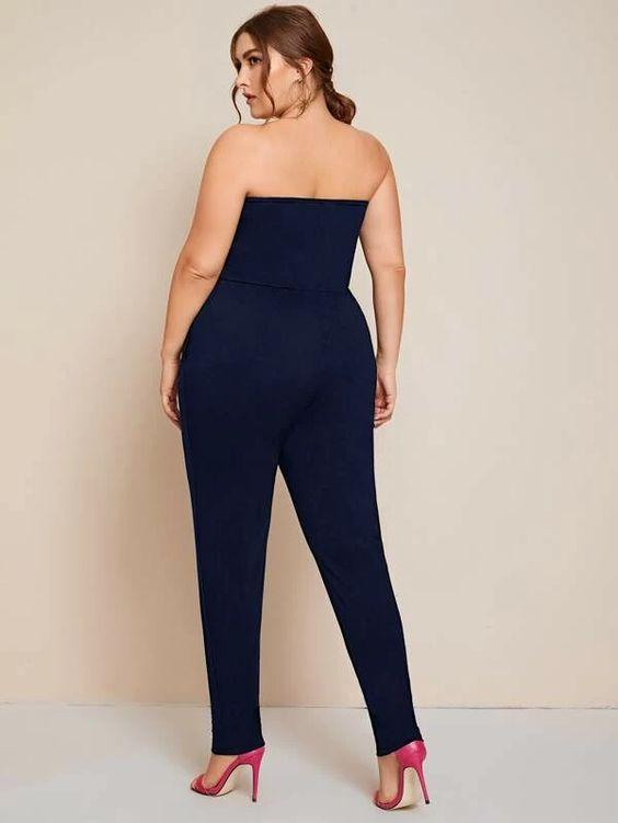 Plus Stretch Tube Jumpsuit Revenge Fashion Boutique