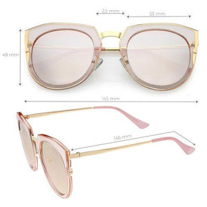 Polarized Round Cat Eye with Mirrored Lenses Revenge Fashion Boutique