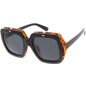 Retro European Oversized Flip Up Sunglasses Revenge Fashion Boutique