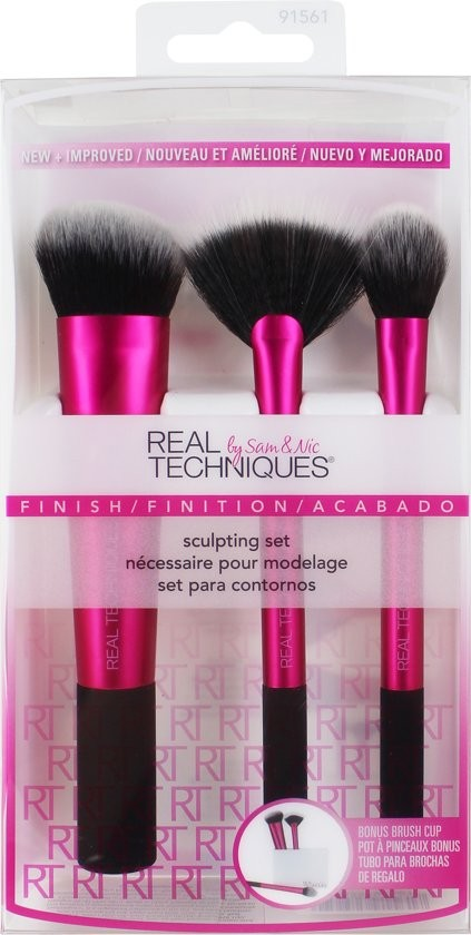 Real Techniques Sculpting Set + Brush Cup - Luxurious Scents