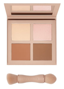 KKW BEAUTY | POWDER CONTOUR & HIGHLIGHT KIT | MEDIUM - Luxurious Scents