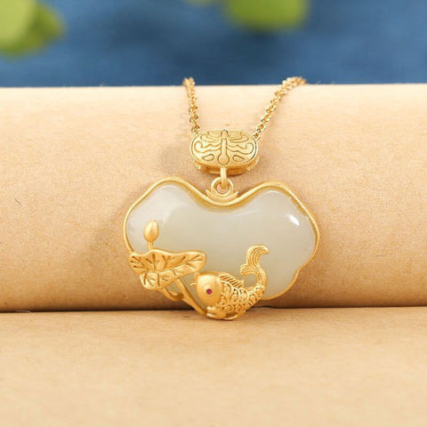 White Jade Wishful Necklace