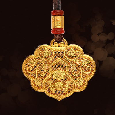 Feng Shui Fulu Ruyi Wealth Necklace