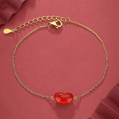 Agate Red Bean Love Bracelet