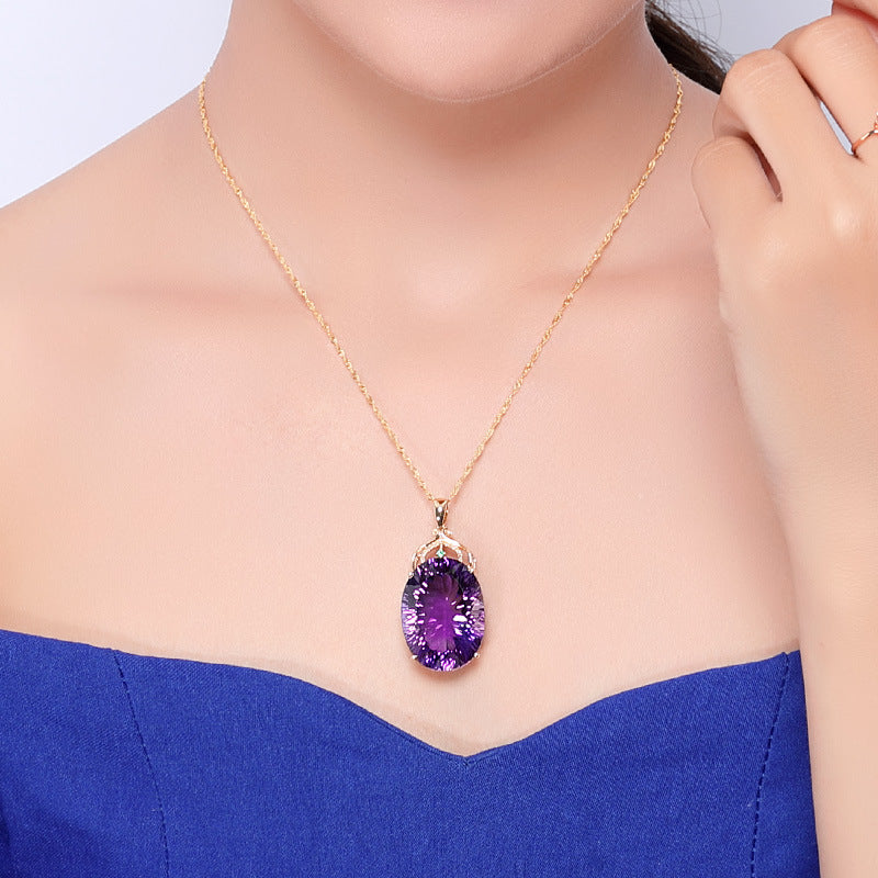 Elegant Amethyst Necklace - Inner Manifestation