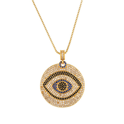 Zircon Evil Eye Protection Necklace