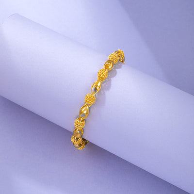 Gold Plated Buddha Bead Bracelet
