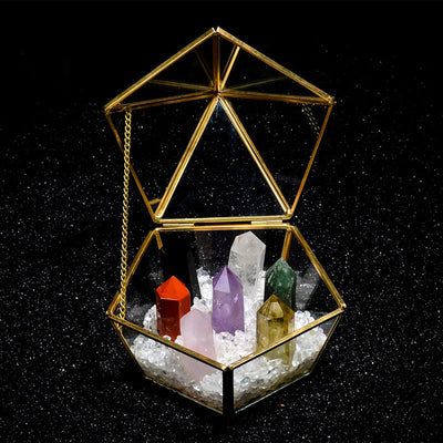 7 Chakra Stones Crystal Ornament Display