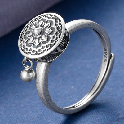 Tibetan Prayer Wheel Ring - Inner Manifestation