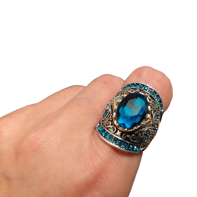 Blue Gemstone Sterling Silver Ring - Inner Manifestation