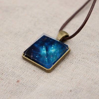 Luminous Stone Pyramid Necklace