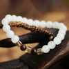 Natural White Chalcedony Positivity Bracelet - Buddha Prayers Shop