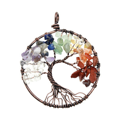 7 Chakra Tree of Life Wisdom Necklace
