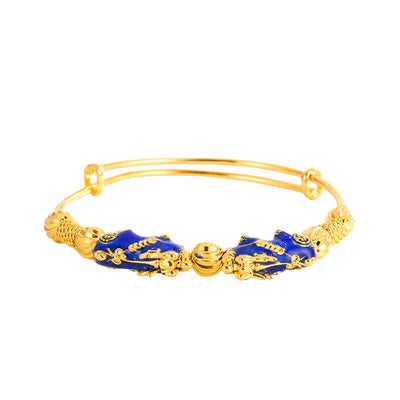 Color Changing Double Pixiu Wealth Bangle