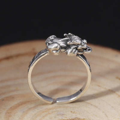 Lucky Silver Pixiu Ring