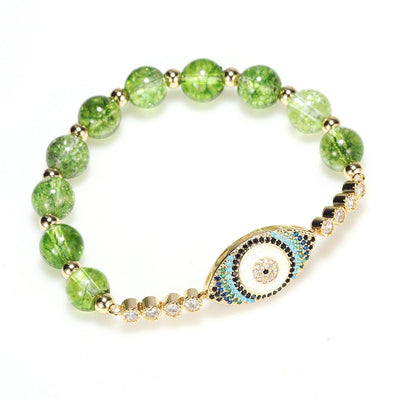 Natural Peridot Abundance Bracelet - Buddha Prayers Shop