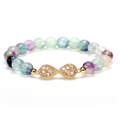 Natural Fluorite Healing Bracelet - Buddha Prayers Shop