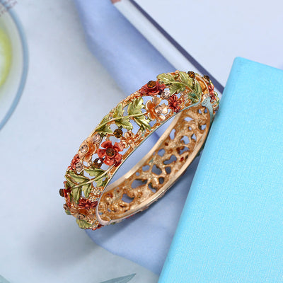 Ethnic Style Hand Painted Flower Bangle