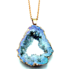 Blue Crystal Geode Necklace - Inner Manifestation