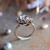 Good Luck Moonstone Flower Ring