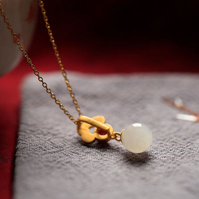 White Jade Charm Necklace
