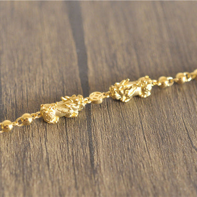Elegant Double Pixiu Wealth Bracelet